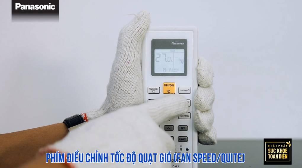 Hướng dẫn sự dụng các chức năng trên điều khiển máy lạnh - Điều chỉnh quạt gió