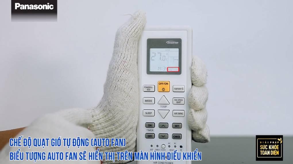 Hướng dẫn sự dụng các chức năng trên điều khiển máy lạnh - Chế độ quạt gió tự động
