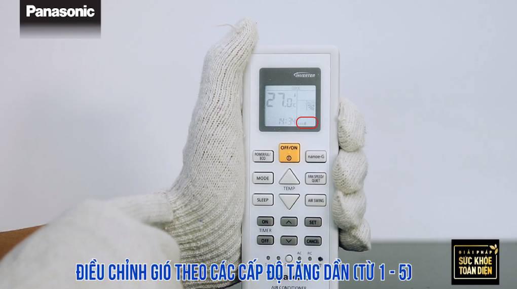 Hướng dẫn sử dụng các chức năng trên điều khiển máy lạnh - Màn hình hiển thị mức gió 1