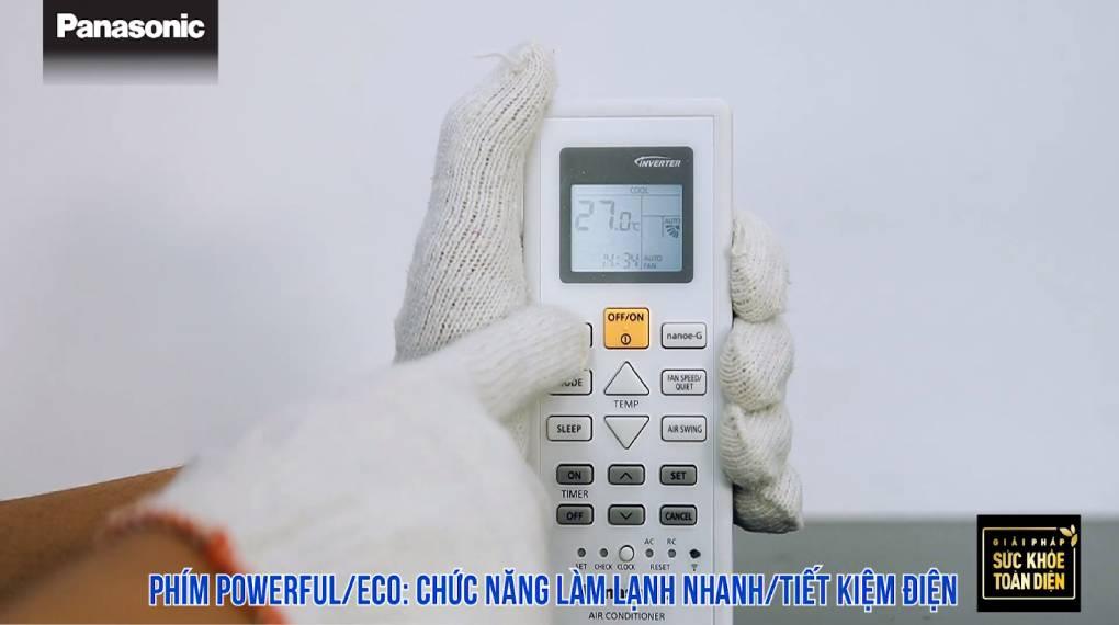 Hướng dẫn sự dụng các chức năng trên điều khiển máy lạnh - Powerful/Eco