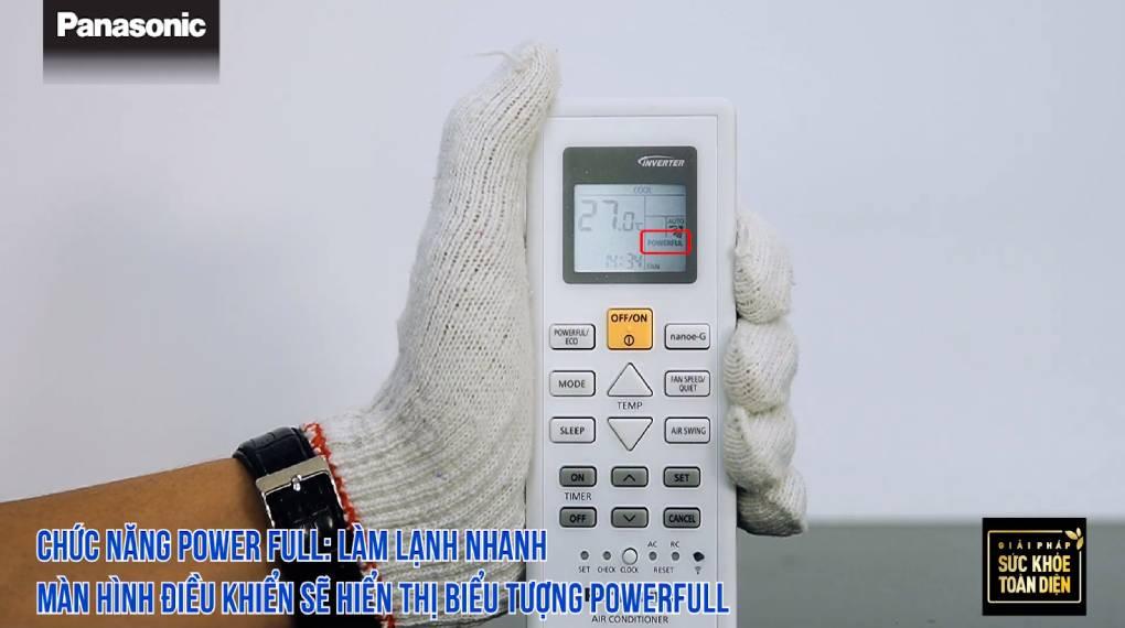 Hướng dẫn sự dụng các chức năng trên điều khiển máy lạnh - Chức năng Powerful