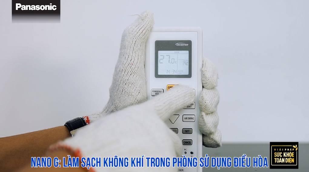Hướng dẫn sự dụng các chức năng trên điều khiển máy lạnh - Chức năng Nanoe-G