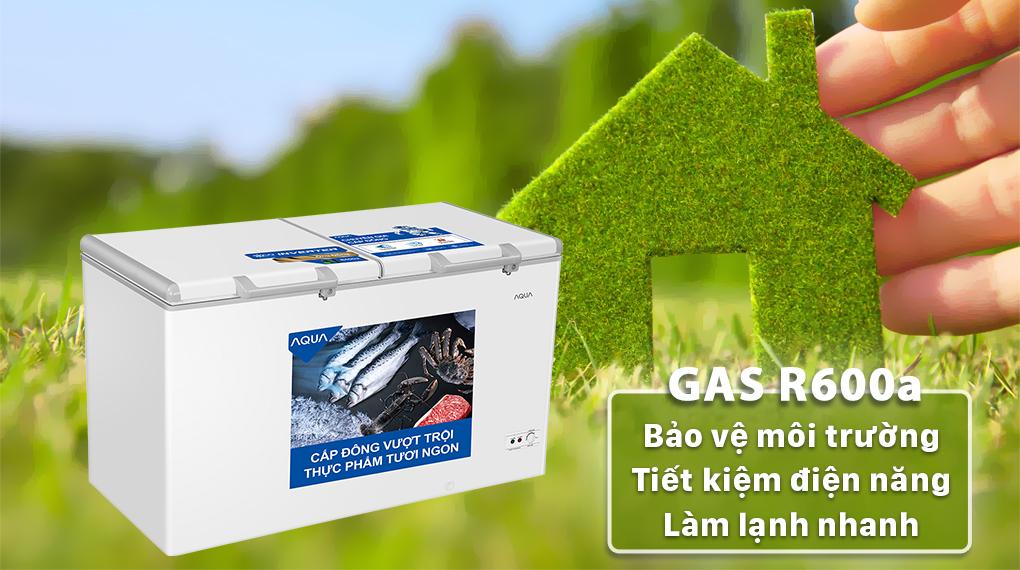 Tủ đông AQUA sử dụng gas R600a góp phần bảo vệ môi trường