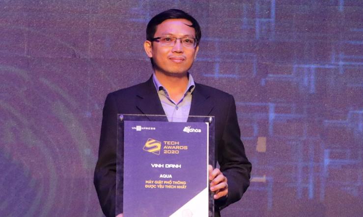 AQUA nhận giải Máy giặt phổ thông được yêu thích nhất trong buổi lễ trao giải Tech Awards 2020