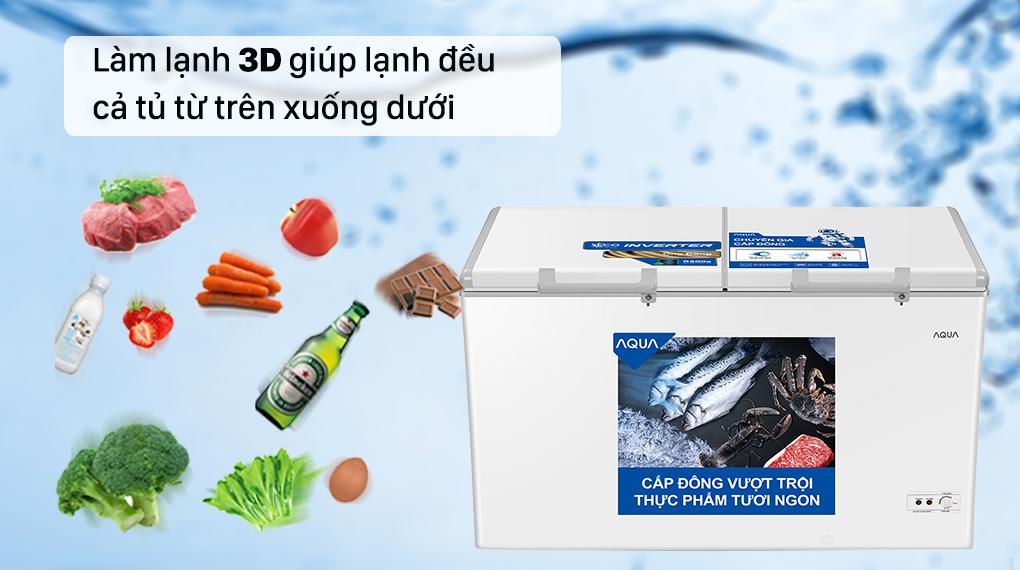Tủ đông AQUA trang bị công nghệ làm lạnh 3D