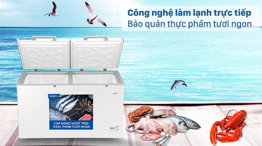 Tủ đông AQUA trang bị công nghệ làm lạnh trực tiếp