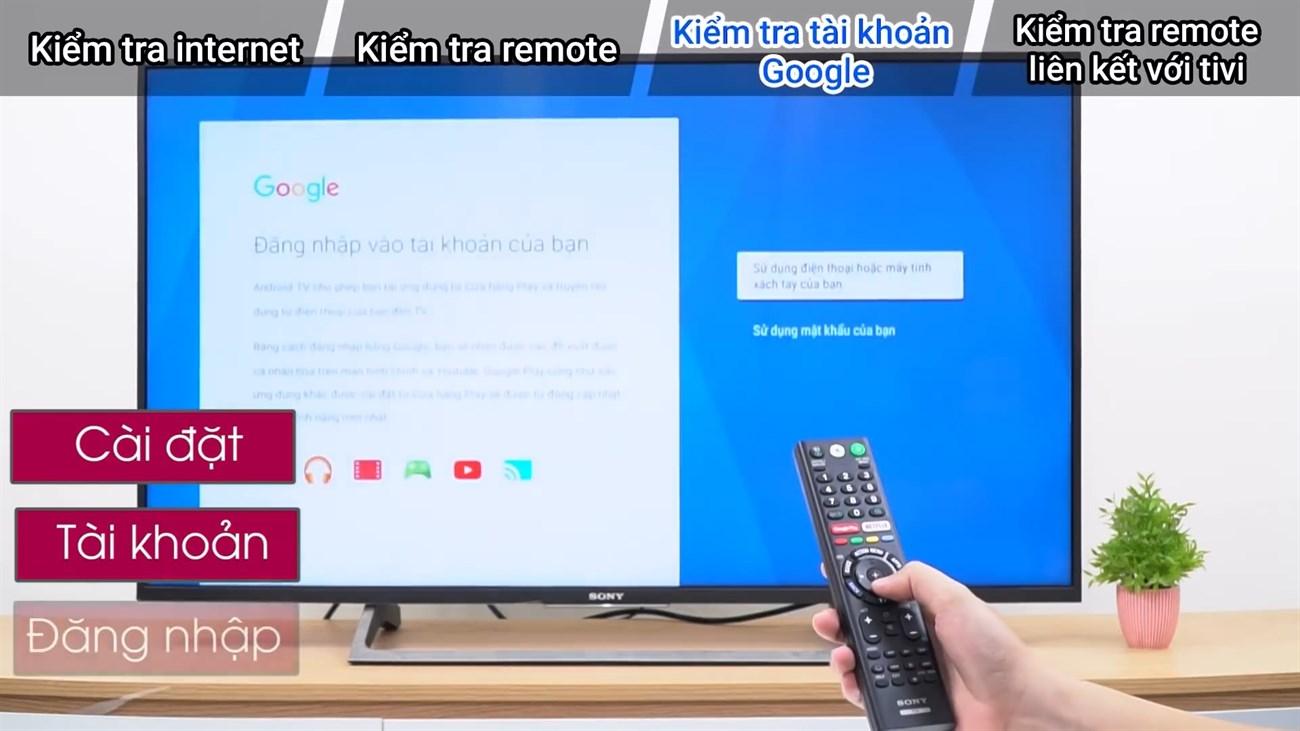 Đăng nhập vào tài khoản Google trên Android TV