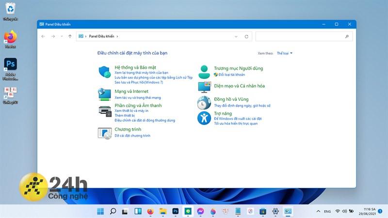 Dù giao diện Control Panel đã thay đổi nhưng mình nghĩ Microsoft nên tích hợp phần này vào mục Settings (Cài đặt) luôn.