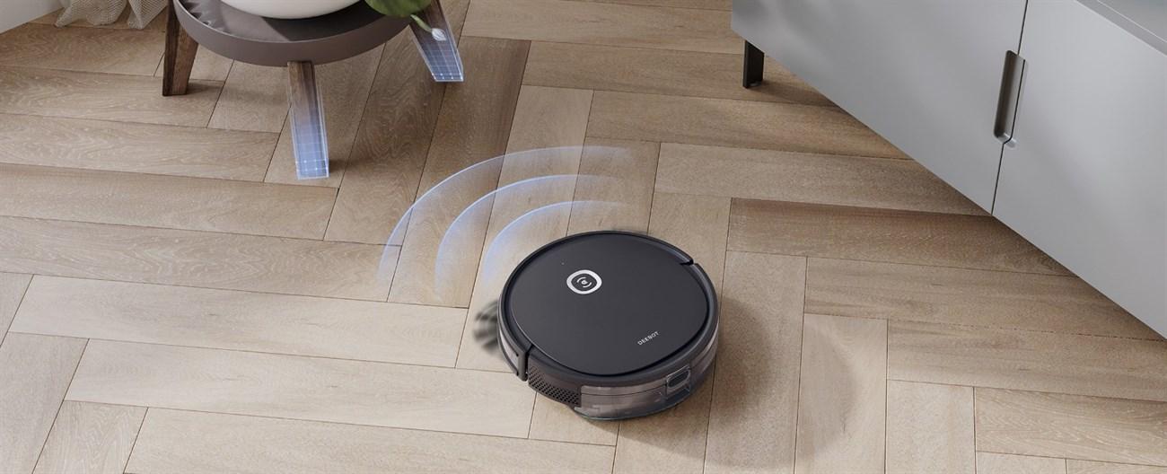 Robot hút bụi ECOVACS DEEBOT có cảm biến phát hiện và vượt vật cản