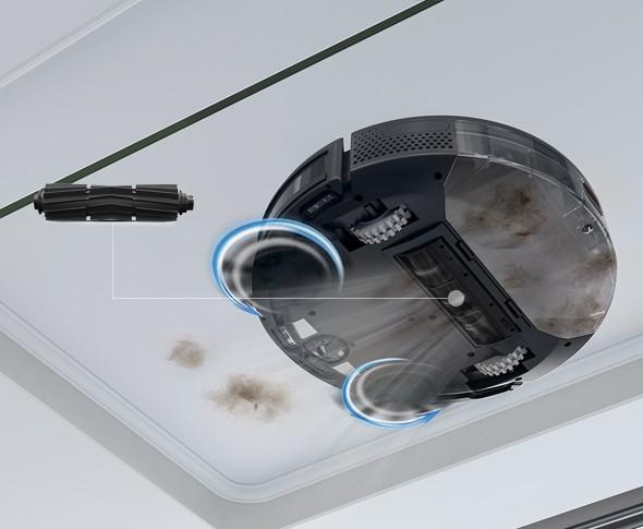 Chổi chống rối của robot hút bụi ECOVACS có thể dọn dẹp lông thú cứng hiệu quả