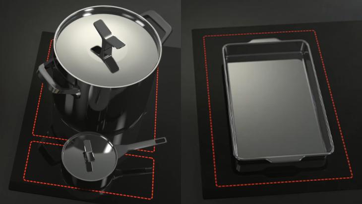 Nguyên lý hoạt động của công nghệ Flexi Zone trên bếp từ