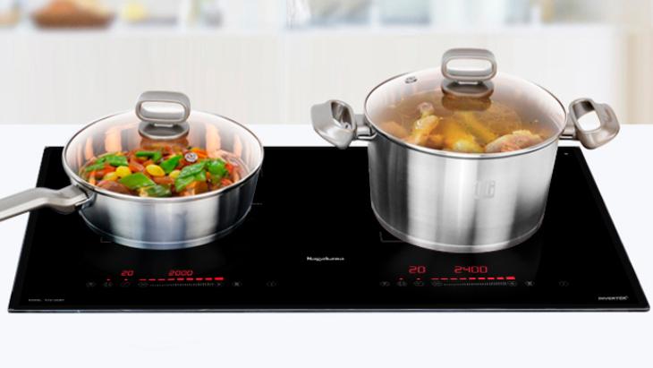 Bếp điện từ Nagakawa có nhiều chế độ nấu được cài đặt sẵn