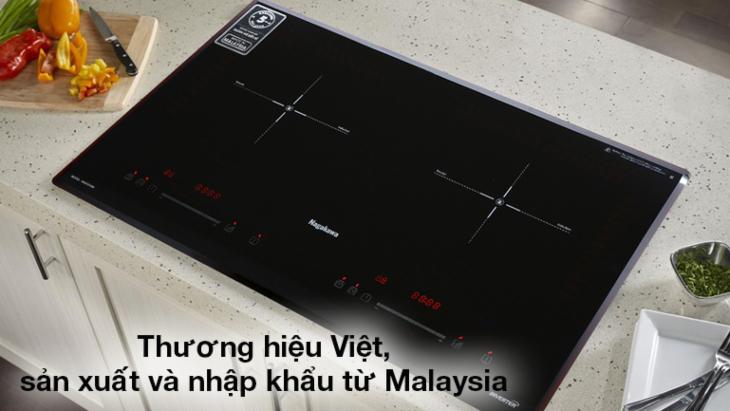 Bếp điện từ Nagakawa từ thương hiệu Việt, sản xuất tại Malaysia