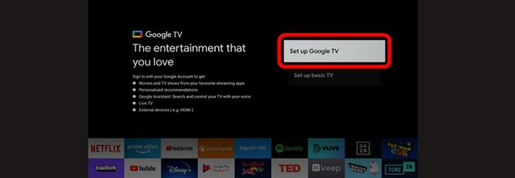 Cách thiết lập Google TV