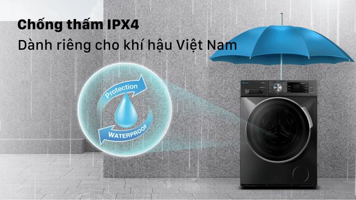 Chống thấm nước tiêu chuẩn IPX4 dành riêng cho khí hậu Việt Nam