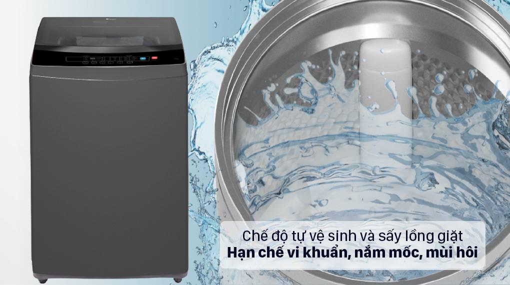 Giúp quần áo sạch sẽ cho lần giặt sau với chế độ tự vệ sinh lồng giặt