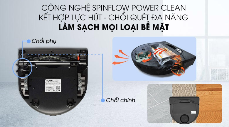 công nghệ SpinFlow™ Power Clean