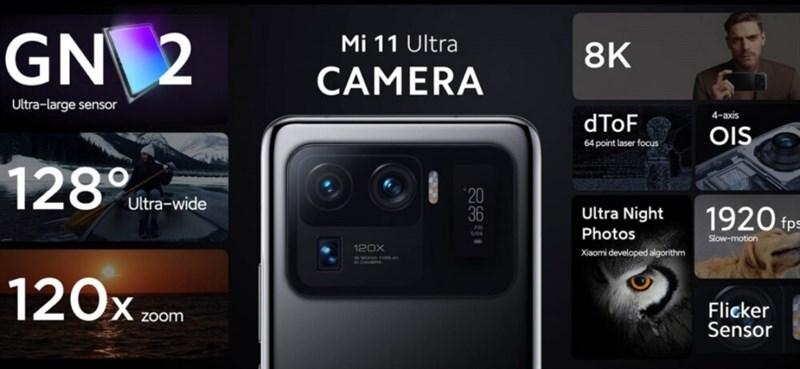 Xiaomi Mi 11 Ultra được trang bị camera ISOCELL GN2 50 MP của Samsung