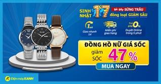 10 mẫu đồng hồ Nữ giảm SỐC 47%, giảm sốc hơn nửa, giá rẻ như cho, mua ngay!