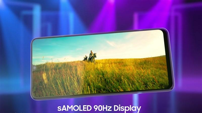 Samsung Galaxy F22 được trang bị tấm nền AMOLED cho hiển thị thêm sắc nét