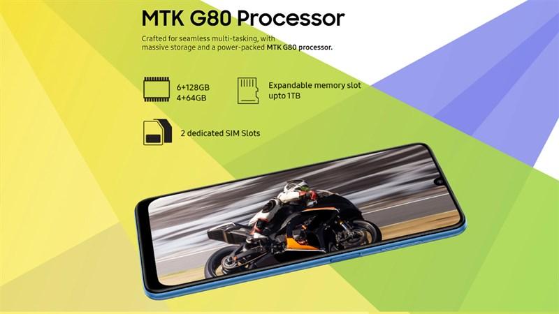 Samsung Galaxy F22 được trang bị con chip Helio G80