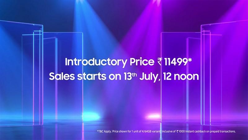 Giá bán của Samsung Galaxy F22