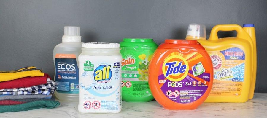 Các loại nước giặt trên thị trường