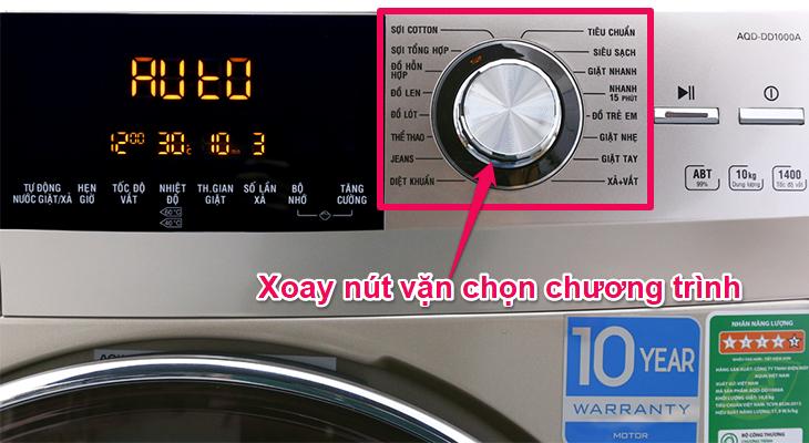 Chọn chương trình giặt cho máy