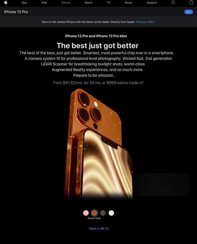 Màu Cam Sunset Gold sẽ xuất hiện trên iPhone 12 Pro.