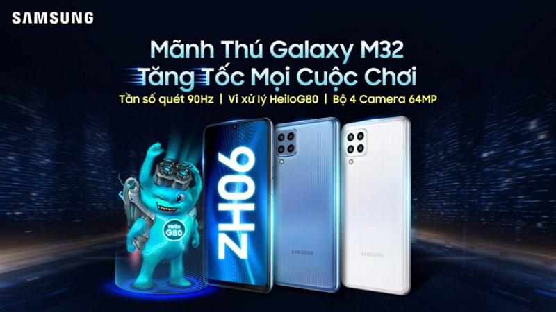 Galaxy M32 ra mắt tại Việt Nam: Màn hình Super AMOLED 90Hz, dùng chip game Helio, pin lớn và giá rất phải chăng