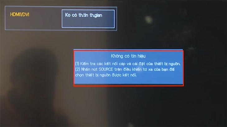 Tivi hiển thị không có tín hiệu