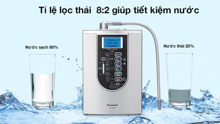 Tỉ lệ nước thải trên máy lọc nước ion kiềm