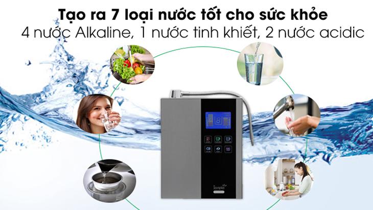 Nước tạo ra từ máy lọc nước ion kiềm