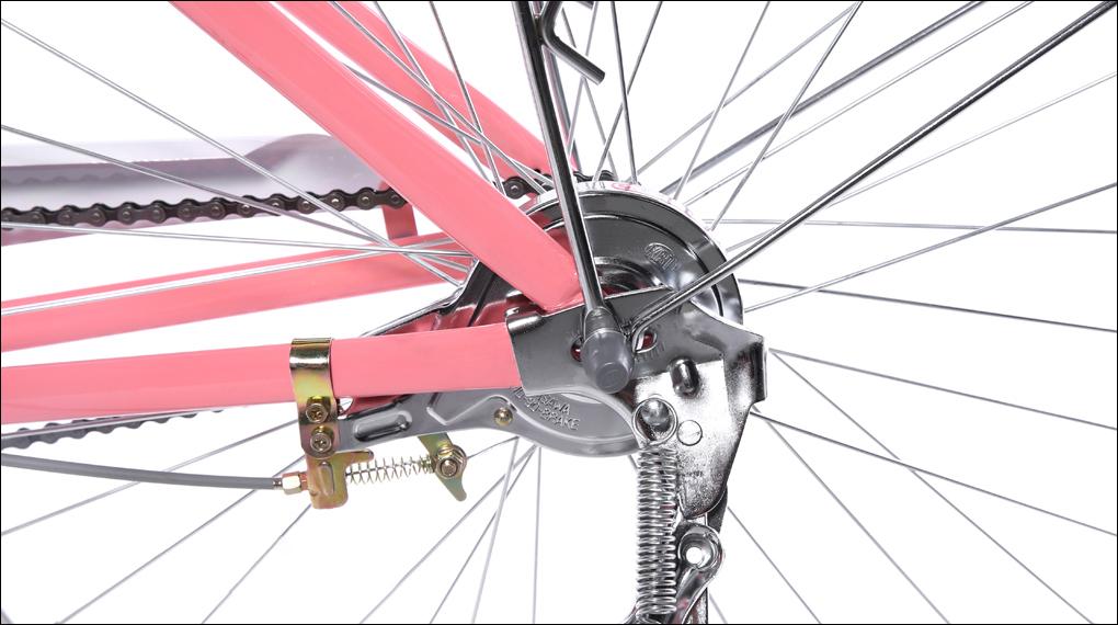 Xe đạp đường phố sẽ được trang bị phanh vành và phanh đùm làm bằng hợp kim thép