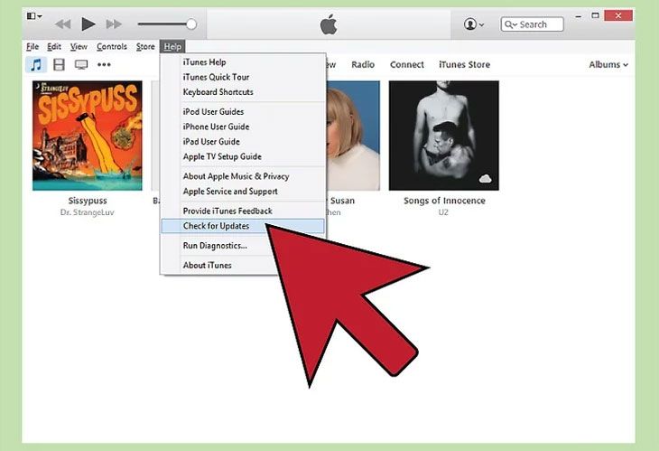 Cập nhật iTunes phiên 10.5 hoặc mới hơn trên máy tính