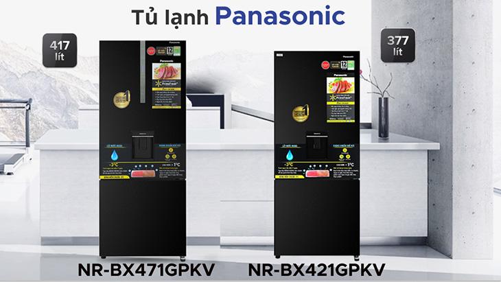 Hai mẫu tủ lạnh Panasonic NR-BX-GPKV