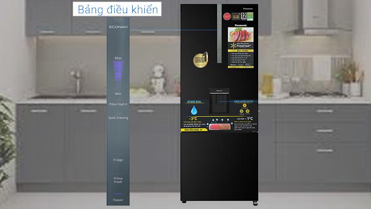 Bảng điều khiển bên ngoài của tủ lạnh NR-BX471GPKV