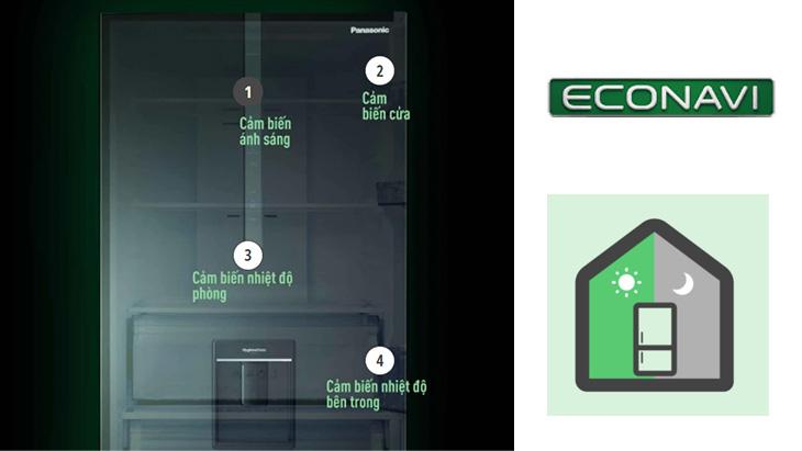 4 cảm biến Econavi của tủ lạnh NR-BX471GPKV