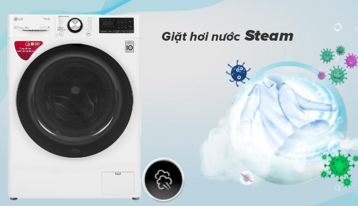 Giặt hơi nước Steam loại bỏ 99.9% vi khuẩn, tác nhân gây dị ứng, giảm nhăn