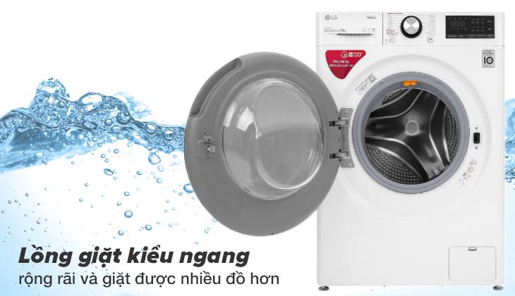 máy giặt LG dòng FV-S2 có lồng giặt rộng rãi
