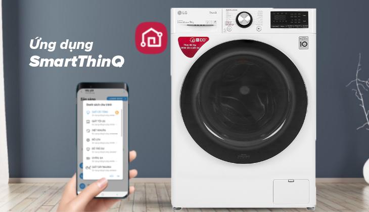Ứng dụng SmartThinQ™ cho phép điều khiển máy giặt từ xa