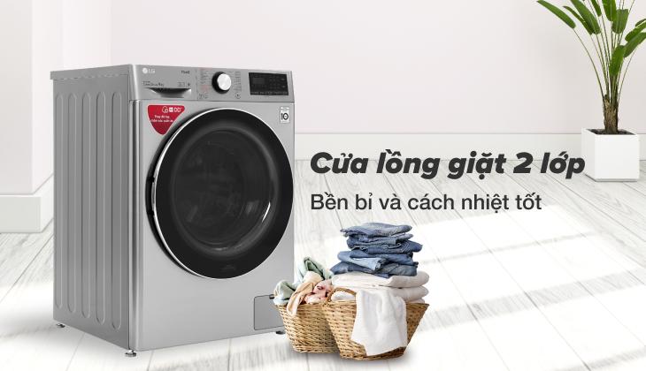 Cửa kính 2 lớp của máy giặt LG