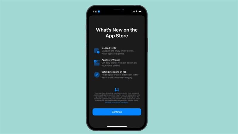 Màn hình giới thiệu mới trong App Store
