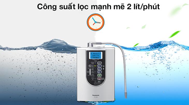 máy lọc nước panasonic công suất lọc lên đến 2 lít/phút
