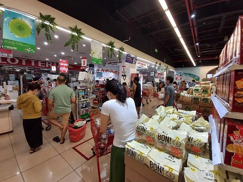Xếp hàng siêu thị