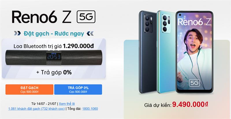 Khi bạn đặt trước OPPO Reno6 Z 5G tại Trungtambaohanh.com, bạn sẽ được loa Bluetooth Tenkin L6 xịn sò.