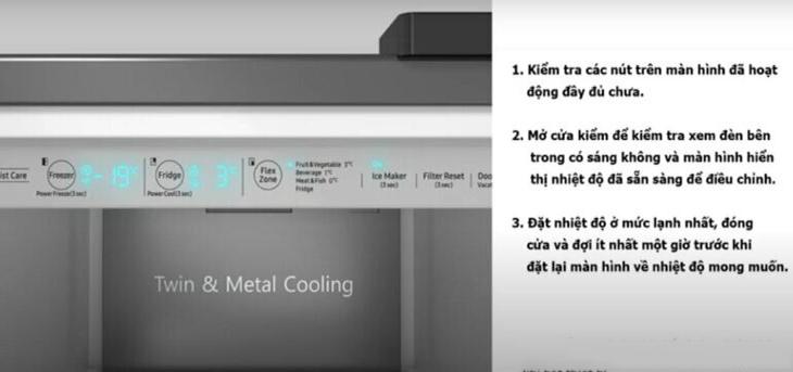 Kiểm tra lắp đặt trên tủ lạnh side by side samsung