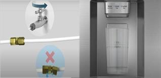 Cách lắp đặt vòi lấy nước của tủ lạnh side by side Samsung