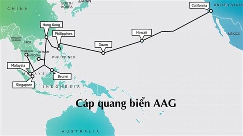 Cáp quang AAG tiếp tục gặp sự cố