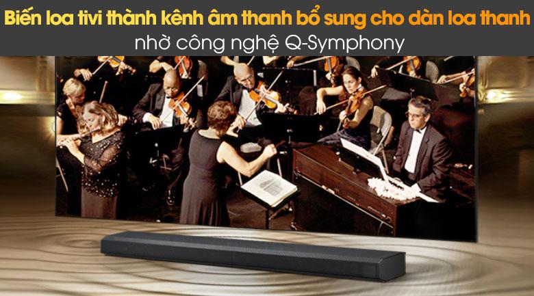 Q-Symphony biến loa tivi thành kênh âm thanh bổ sung cho dàn loa thanh